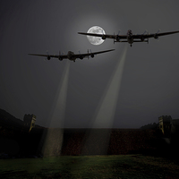 Buy canvas prints of Moonlight training sortie by Aviation Prints