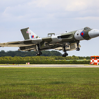 Buy canvas prints of  Vulcan Bomber Landing by Aviation Prints