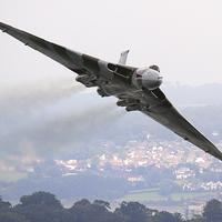 Buy canvas prints of The Avro Vulcan flight at Dawlish 2015 by Ken Brannen