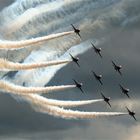 Buy canvas prints of Red Arrows 2 by Aviation Prints