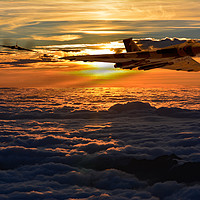 Buy canvas prints of Vulcan bomber sunset 2 by Oxon Images