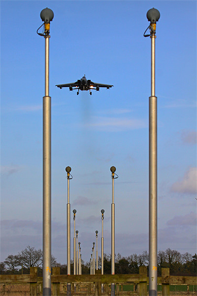 Approach lights and Tornado GR4 Canvas print by Aviation Prints