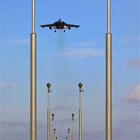 Buy canvas prints of Approach lights and Tornado GR4 by Aviation Prints