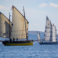 Buy canvas prints of Looe Luggers by Oxon Images