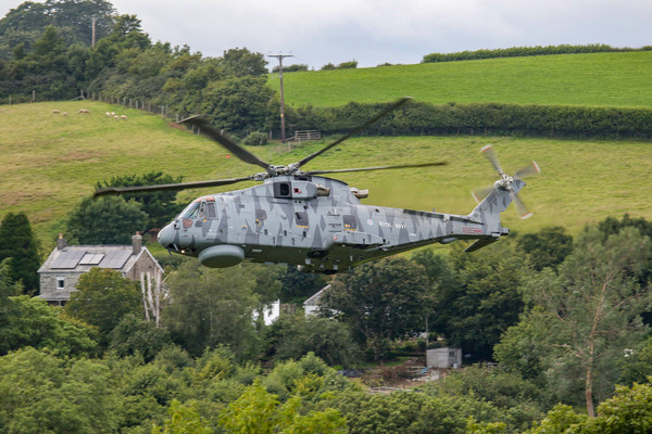 Royal Navy Merlin low level Acrylic by Oxon Images