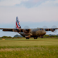 Buy canvas prints of 50th Anniversary RAF C130 Hercules by Oxon Images