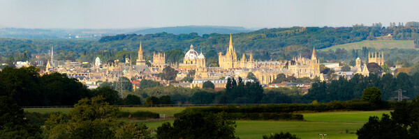 Oxford Panoramic Colour Canvas Print by Oxon Images