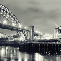 Buy canvas prints of The Sparkling Tyne by Toon Photography