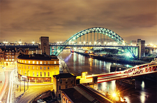 Bright City Lights, Newcastle Canvas print by Toon Photography