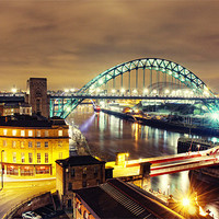 Buy canvas prints of Bright City Lights, Newcastle by Toon Photography