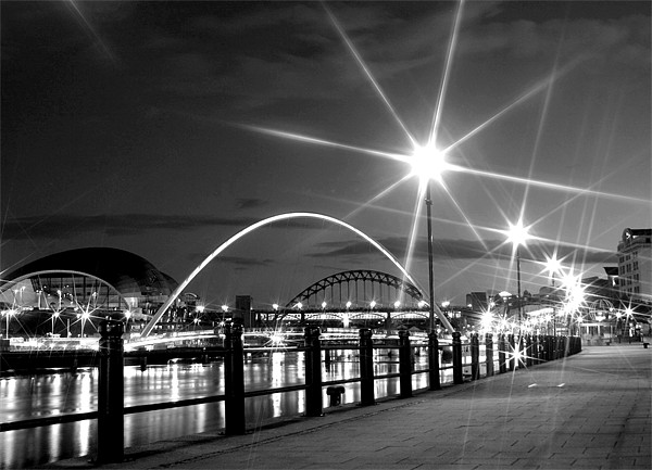 Black and White on the Quayside Canvas print by Toon Photography