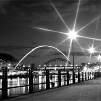 Buy canvas prints of Black and White on the Quayside by Toon Photography