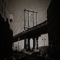 Buy canvas prints of Manhattan Bridge, Iconic. by Toon Photography