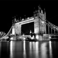 Buy canvas prints of Tower Bridge Mono by Toon Photography