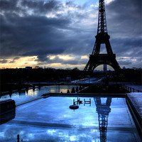 Buy canvas prints of An Eiffel Reflection by Toon Photography