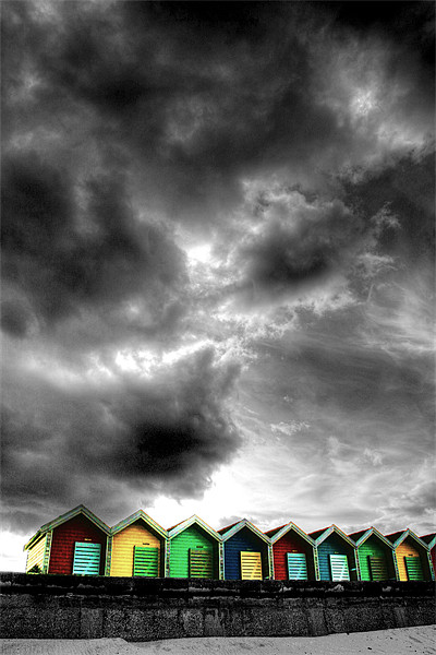 Stormy Beach Huts Canvas print by Toon Photography