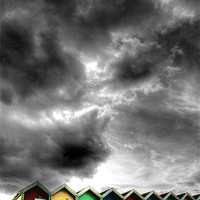 Buy canvas prints of Stormy Beach Huts by Toon Photography