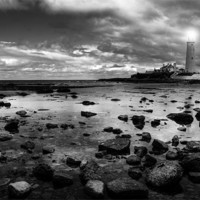 Buy canvas prints of St. Mary's Lighthouse by Toon Photography