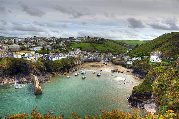 Port Isaac Harbour Canvas Print by David Wilkins