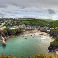 Buy canvas prints of Port Isaac Harbour by David Wilkins