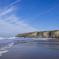 Buy canvas prints of Trebarwith surf by David Wilkins