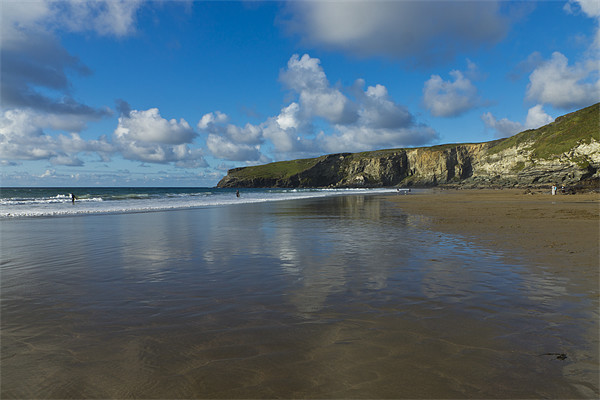 Trebarwith Strand Canvas print by David Wilkins