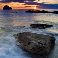 Buy canvas prints of Gull Rock Sunset by David Wilkins