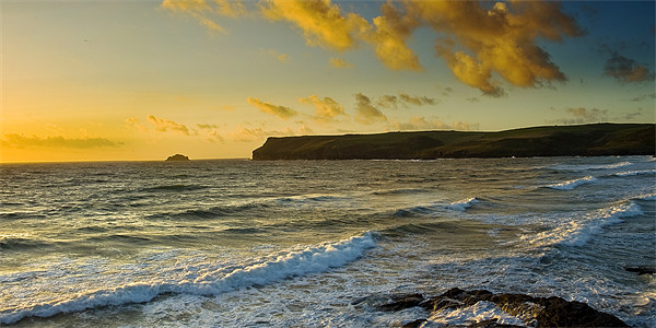 Pentire Head Sunset Canvas Print by David Wilkins
