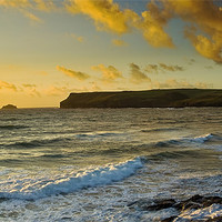 Buy canvas prints of Pentire Head Sunset by David Wilkins