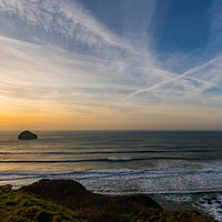 Buy canvas prints of Trebarwith View by David Wilkins