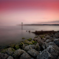 Buy canvas prints of Exmouth evening by David Hare