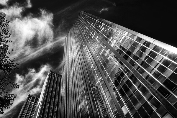Towers and clouds Canvas Print by David Hare