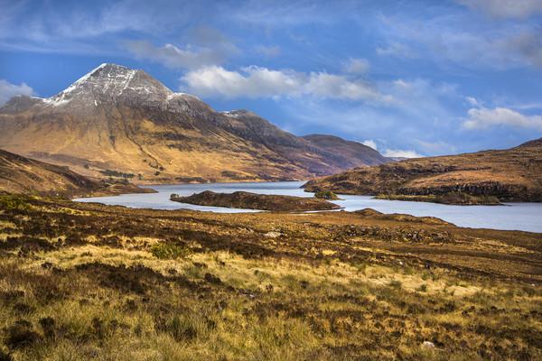 Highland Loch Canvas print by David Hare