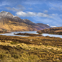 Buy canvas prints of Highland Loch by David Hare