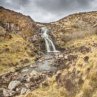 Buy canvas prints of Highland Waterfall by David Hare