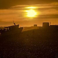 Buy canvas prints of Sunset over Fisherman's beach by David Hare