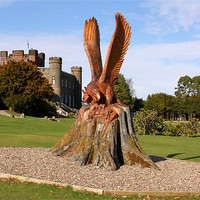 Buy canvas prints of Stobo Castle and the Eagle by Stephanie Reeves