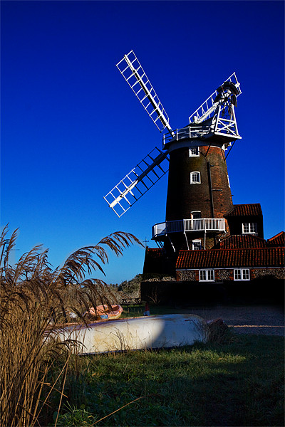 Cley Windmill Framed Mounted Print by Roy Scrivener