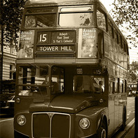 Buy canvas prints of LONDON BUS by Andy Lowe