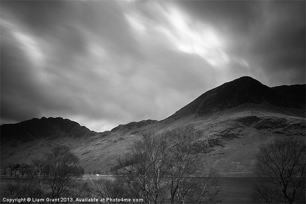 View of Haystacks and High Crag above Buttermere.  Canvas print by Liam Grant