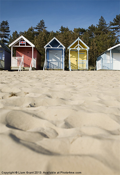 Beach huts. Wells-next-the-sea, North Norfolk, UK Canvas print by Liam Grant