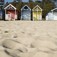 Buy canvas prints of Beach huts. Wells-next-the-sea, North Norfolk, UK by Liam Grant
