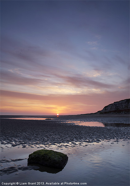 Cliffs at Sunrise, Old Hunstanton, Norfolk Canvas print by Liam Grant