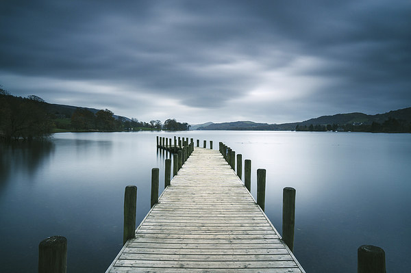 Jetty on Coniston Water. Canvas print by Liam Grant