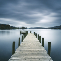Buy canvas prints of Jetty on Coniston Water. by Liam Grant