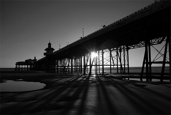 Blackpool Pier Canvas print by Anth Short