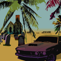 Buy canvas prints of Muscle Car by Anth Short