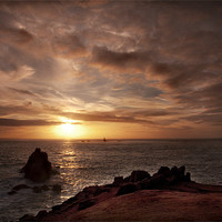 Buy canvas prints of LANDS END SUNSET by Anthony R Dudley (LRPS)