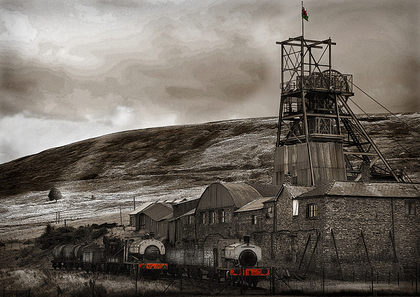 BIG PIT #2 Canvas Print by Anthony R Dudley (LRPS)