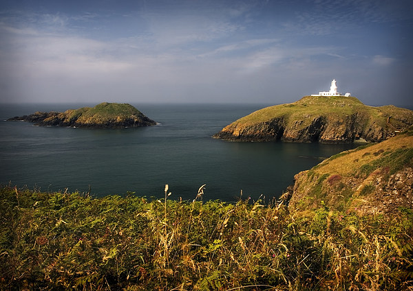 STRUMBLE HEAD LIGHT HOUSE Canvas print by Anthony R Dudley (LRPS)